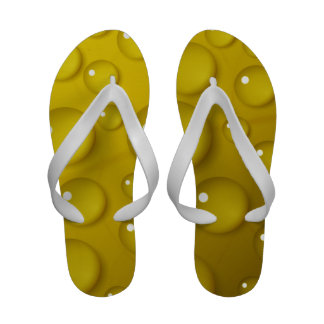 Yellow Water Drop Background Sandals