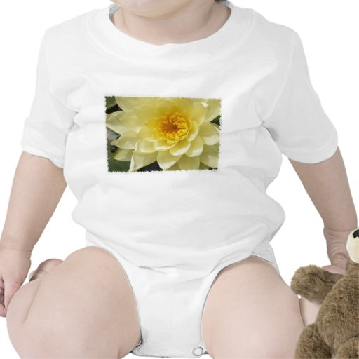 Yellow Water Lily Baby Clothes T-shirts