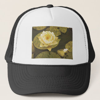 Yellow Water Lily Drawing Trucker Hat