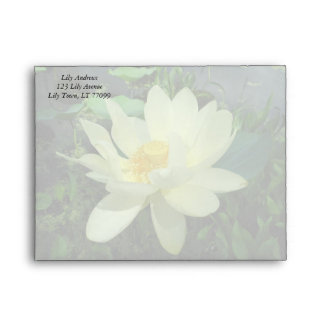 Yellow Water Lily Envelope