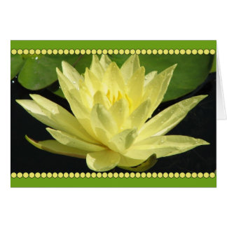 Yellow Water Lily Flower Stationery Note Card