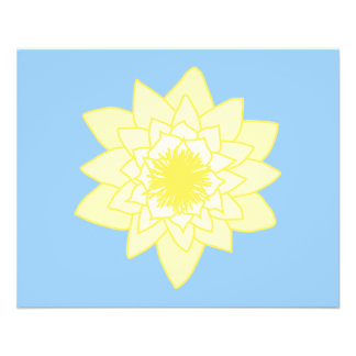 Yellow Water Lily. Custom Flyer