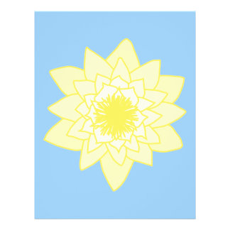Yellow Water Lily. Full Color Flyer