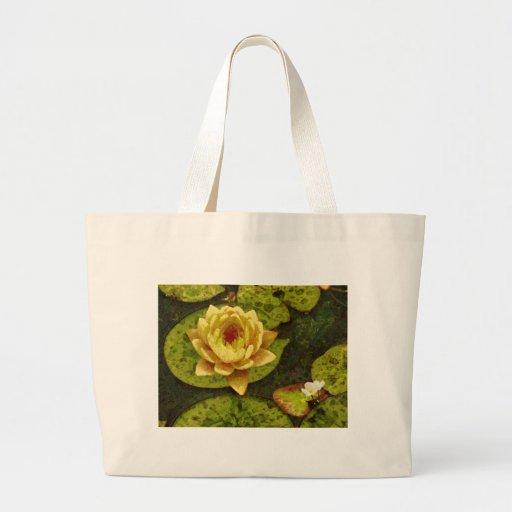 Yellow Water Lily Jumbo Tote Bag