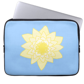 Yellow Water Lily Laptop Computer Sleeve