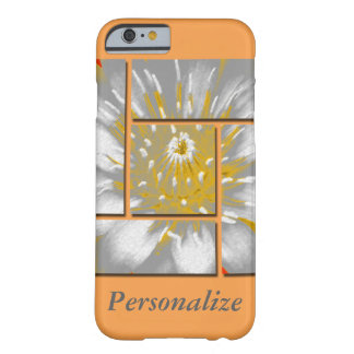 Yellow Water Lily Square Pattern Design Barely There iPhone 6 Case
