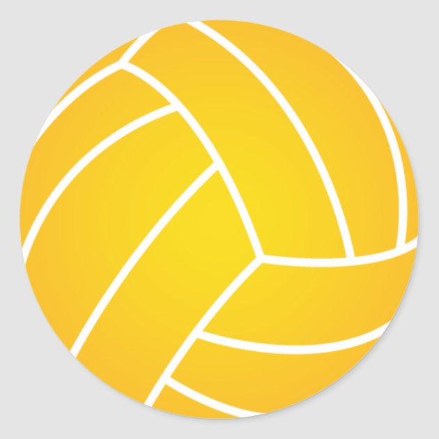 Yellow Water Polo Ball Sticker Zazzle
