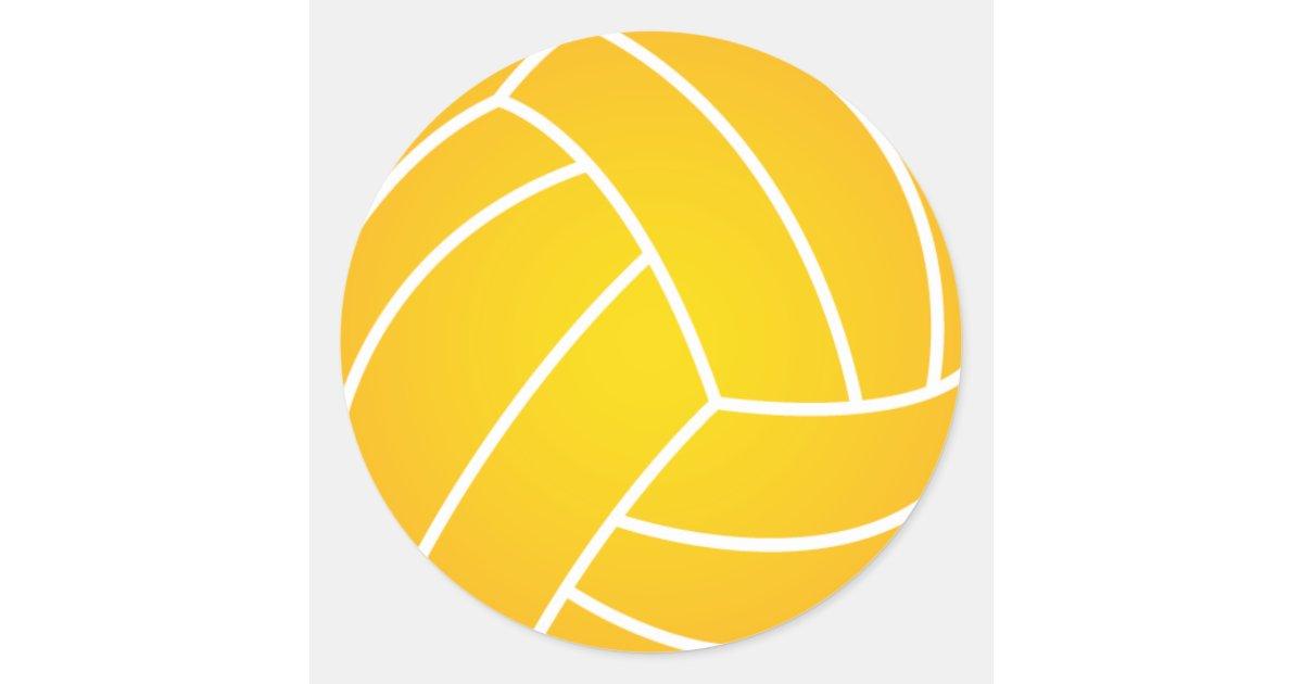 Yellow Water Polo Ball Sticker | Zazzle.com