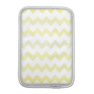 Yellow Watercolor Chevron Zigzag Pattern iPad Mini Sleeve