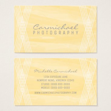 Professional Business Yellow Watercolor Deco Business Card