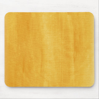 Yellow Watercolor Modern Painted Distressed Mouse Pad
