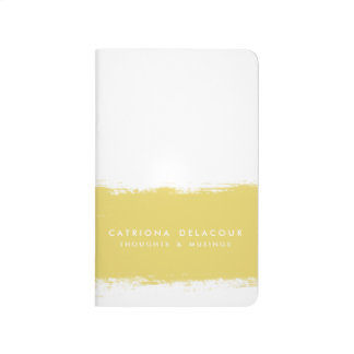 Yellow Watercolor Splash Personalized Journal