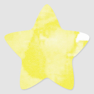 Yellow Watercolor Star Sticker