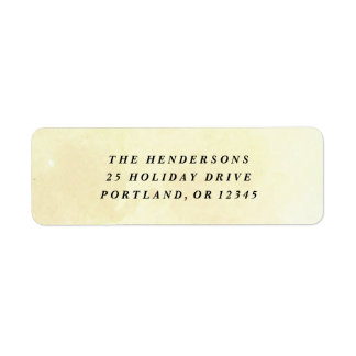 Yellow watercolor wash return address label