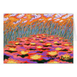 """""""Yellow Waterlillies In Pond,"""" 5x7', by Nina Beall Cards"""