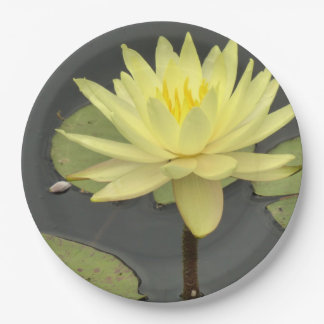 Yellow Waterlily Paper Plates