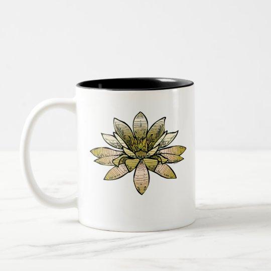 yellow waterlily Two-Tone coffee mug