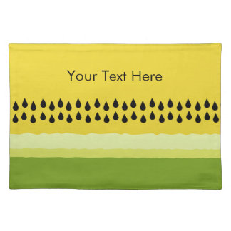 Yellow Watermelon Slice Cloth Placemat