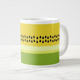 Yellow Watermelon Slice Jumbo Mug 20 Oz Large Ceramic Coffee Mug
