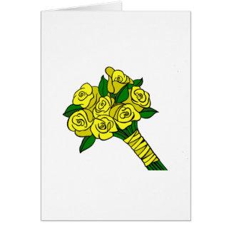 Yellow Wedding Bouquet Card