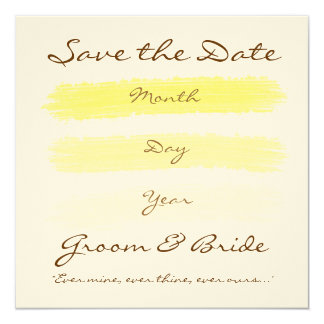 Yellow Wedding Card
