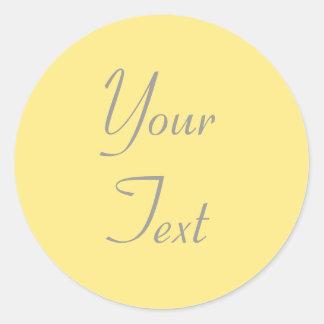 Yellow Wedding Envelope Seals with Custom Text Classic Round Sticker