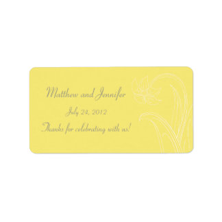 Yellow Wedding Favor Label or Gift Tag Stickers Address Label
