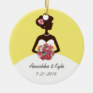 Yellow Wedding Gown Bridesmaid Ornament