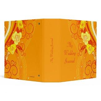 Yellow Wedding Roses Orange binder
