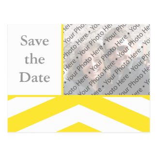 Yellow Wedding Save the Date Photo Postcard