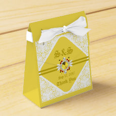 Yellow Wedding Tent Favor Box w/ GF
