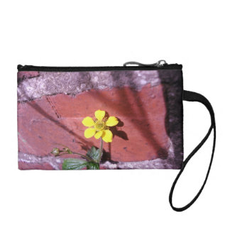 Yellow Weed flower Coin Purse