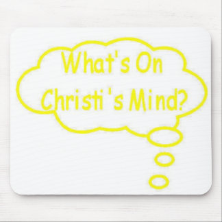 Yellow What's On Christi's Mind Thought Bubble Mouse Pad