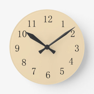Yellow Wheat Color Kitchen Wall Clock