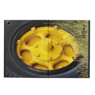 Yellow Wheel, iPad Air Folio Case