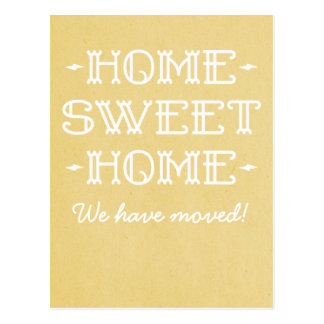 Yellow Whimsical Home Sweet Home Postcard