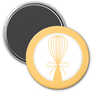 Yellow Whisk Silhouette Magnet