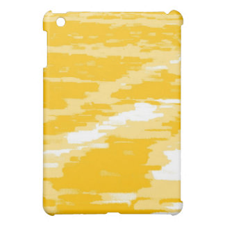 Yellow White Abstract Wave Retro iPad Case