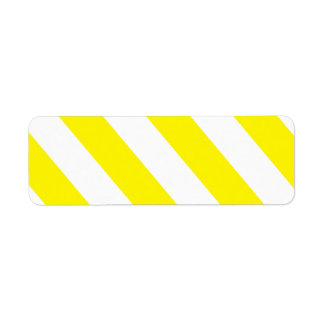 Yellow White Attention Warning Stripes Label