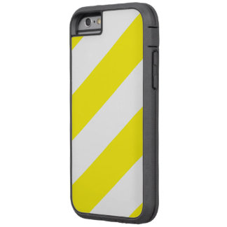 Yellow White Attention Warning Stripes Tough Xtreme iPhone 6 Case