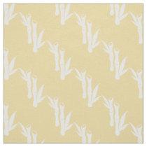 Yellow white Bamboo stalks oriental pattern fabric