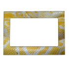 YELLOW WHITE BOA SNAKE SKIN TEXTURES REPTILES PATT MAGNETIC PHOTO FRAME
