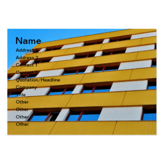 Yellow white building large business cards (Pack of 100)