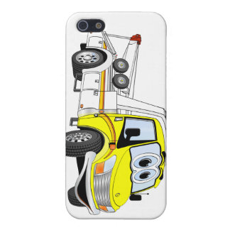 Yellow White Cartoon Tow Truck iPhone 5 Covers