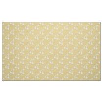 Yellow white cherries pattern fabric