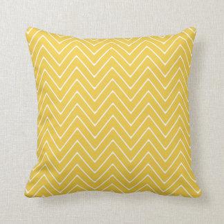 Yellow White Chevron Pattern 2A Throw Pillows
