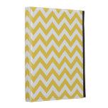 Yellow White Chevron Pattern iPad Folio Case