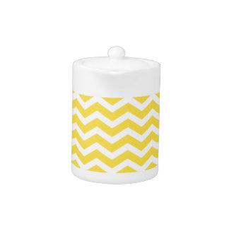 Yellow White Chevron Pattern