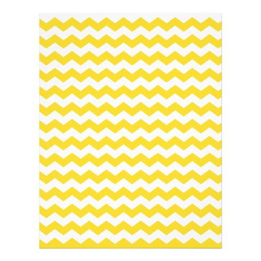 "yellow  white chevrons 8.5"" x 11"" flyer"