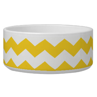 yellow  white chevrons bowl